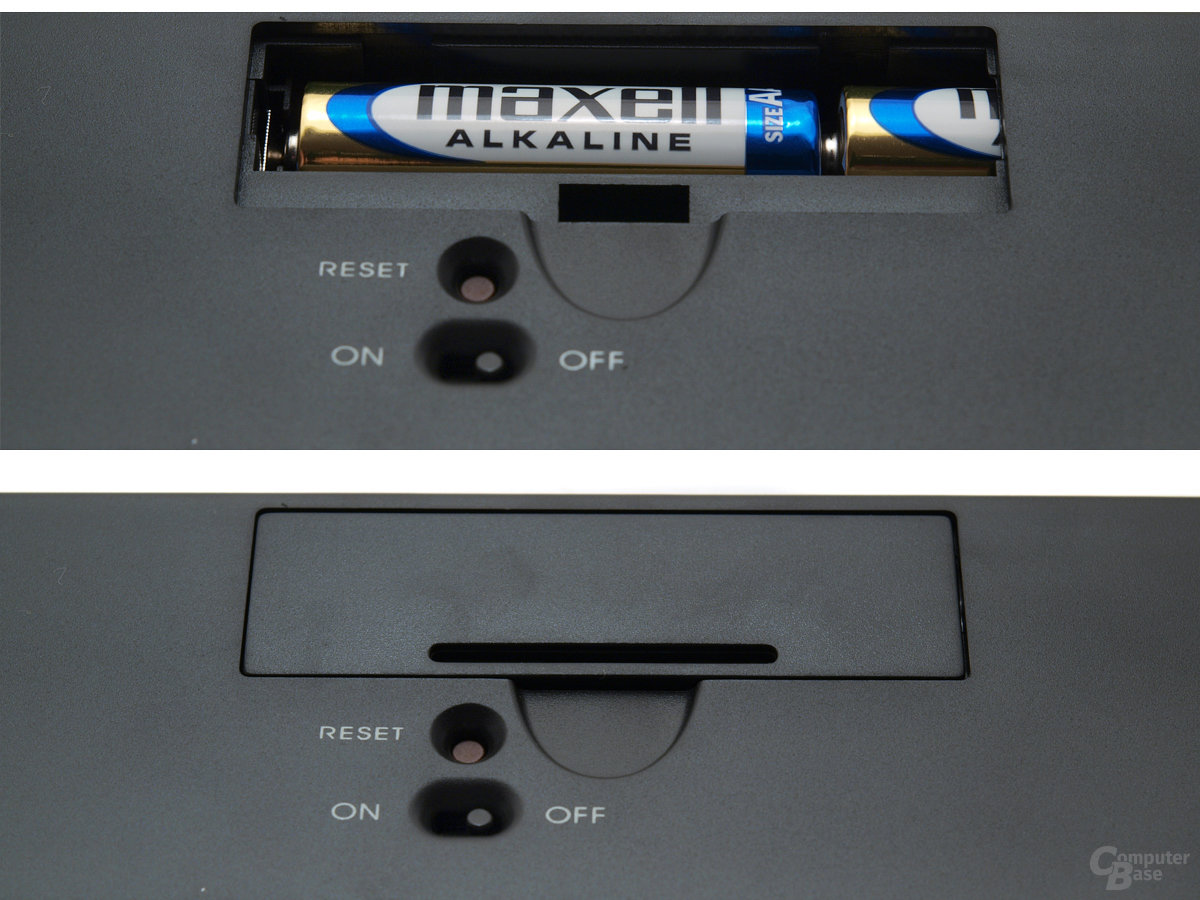 Batteriefach für zwei AA-Ladungsträger