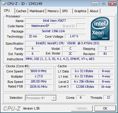 """""""Gulftown""""-CPU mit 3,47 GHz übertaktet auf 5 GHz"""