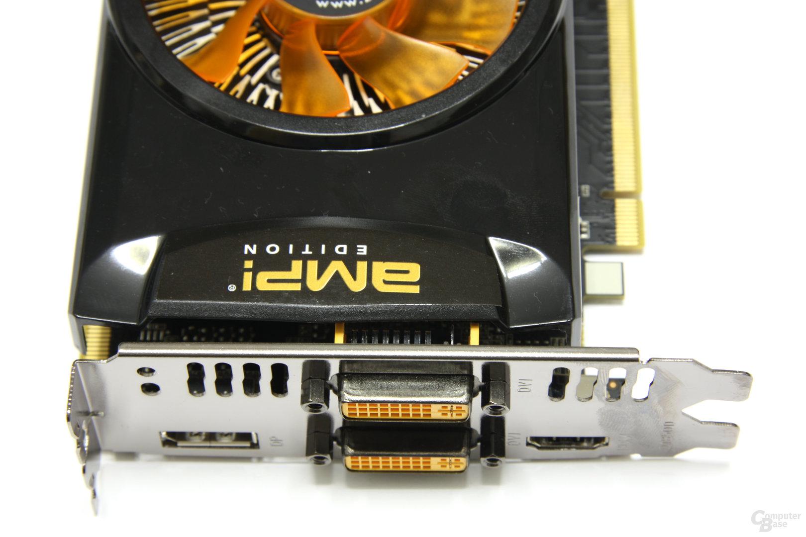 GeForce GTX 460 AMP! Anschlüsse