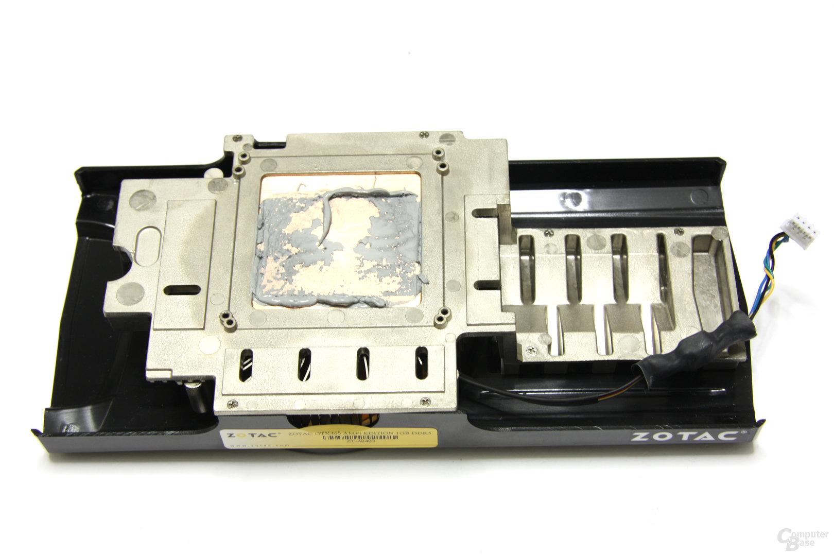 GeForce GTX 460 AMP! Kühlerrückseite