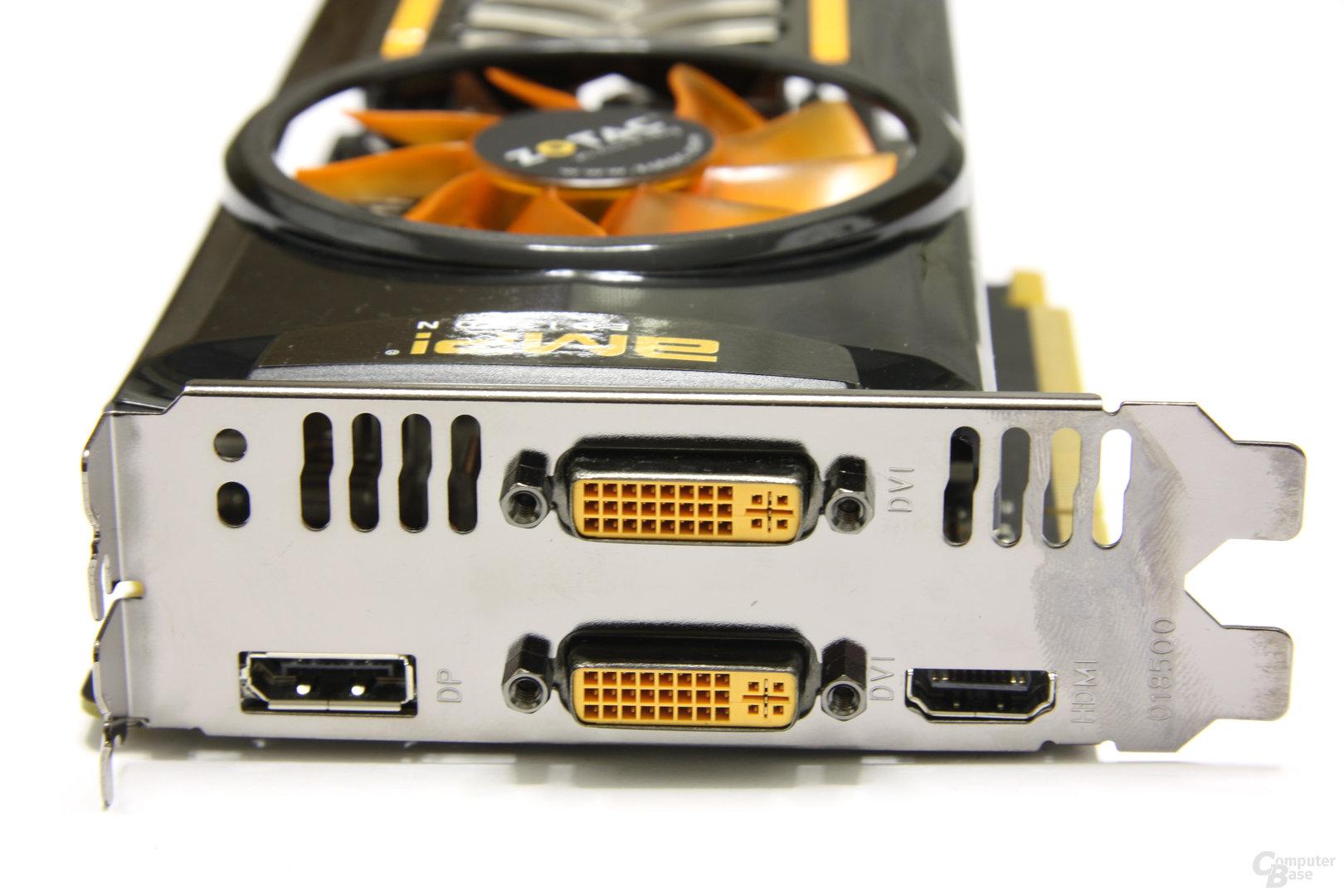 GeForce GTX 460 AMP! Slotblech