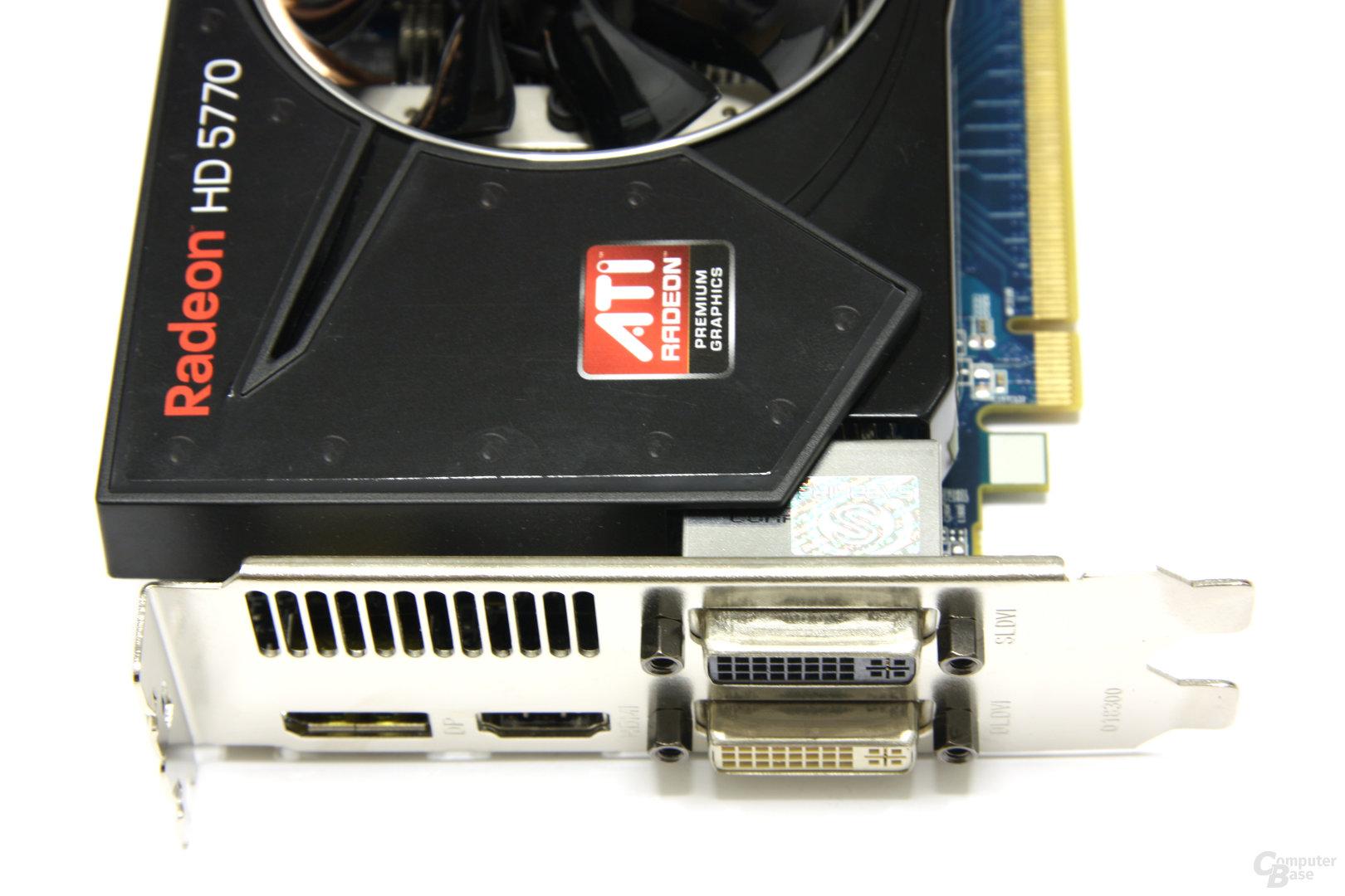 Radeon HD 5770 Flex Anschlüsse