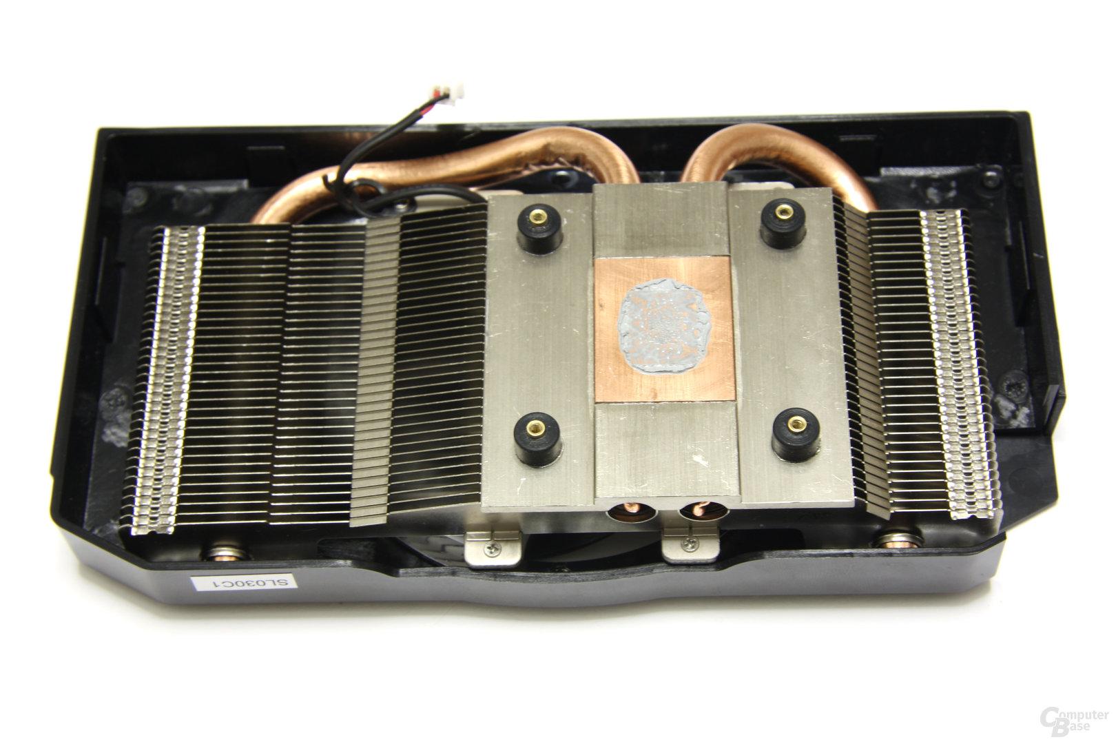Radeon HD 5770 Flex Kühlerrückseite