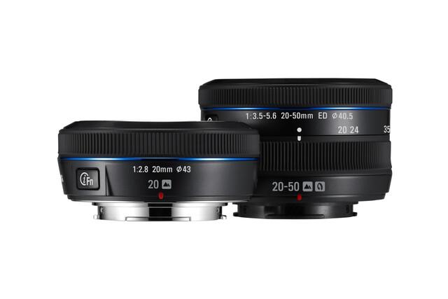 Samsung NX 20 mm 1:2,8 und NX 20-50 mm 1:3,5-5,6