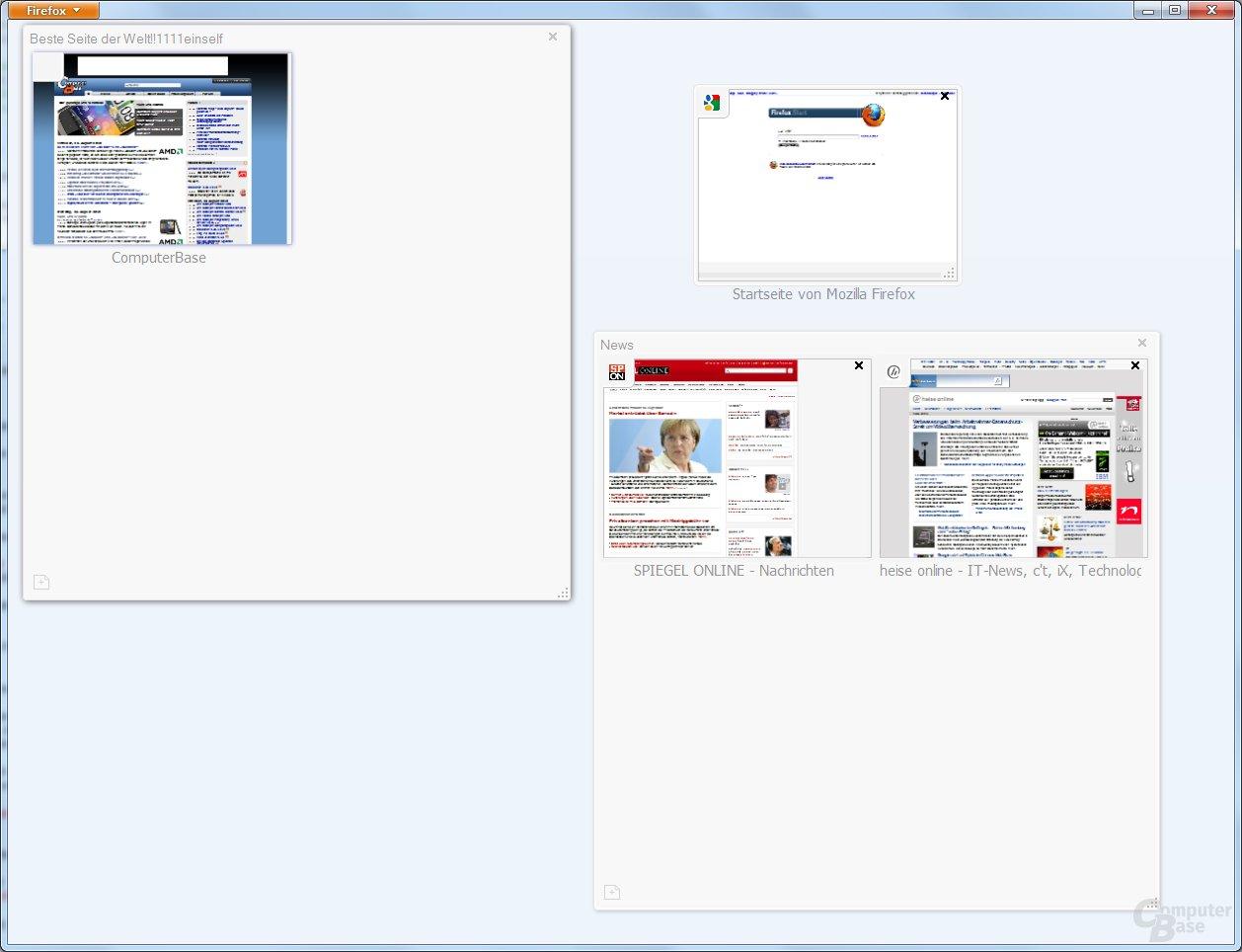Firefox 4 Beta 4: Tabs gruppieren