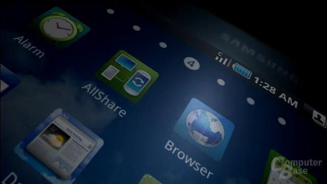 Samsung Galaxy Tab: Menü