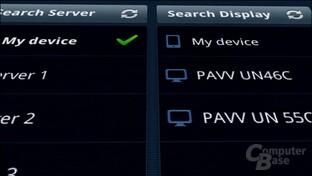 Samsung Galaxy Tab: Suche