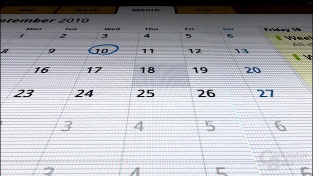 Samsung Galaxy Tab: Kalender