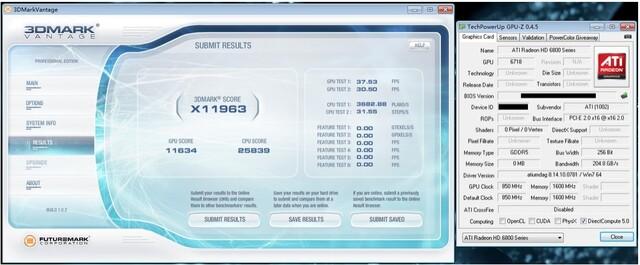Radeon HD 6870 in 3DMark Vantage?