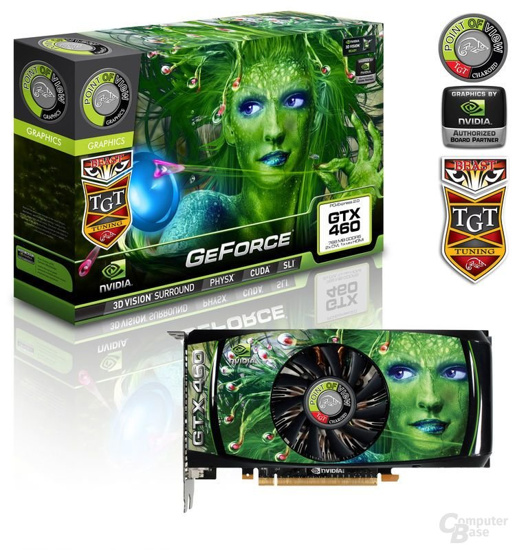 Point of View GeForce GTX 460 768 MB Beast Edition