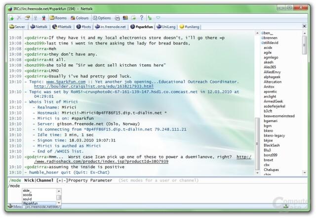 Nettalk – Chatprogramm für das IRC-Protokoll