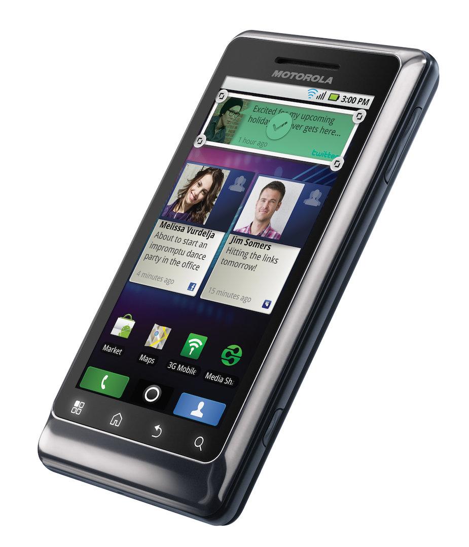 Motorola Milestone 2: Vorderseite