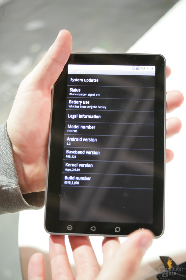 ViewPad 7: Geräte-Informationen