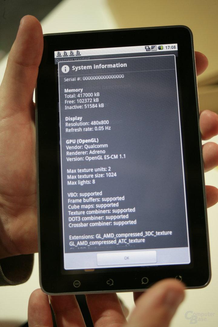 ViewPad 7: GPU-Details