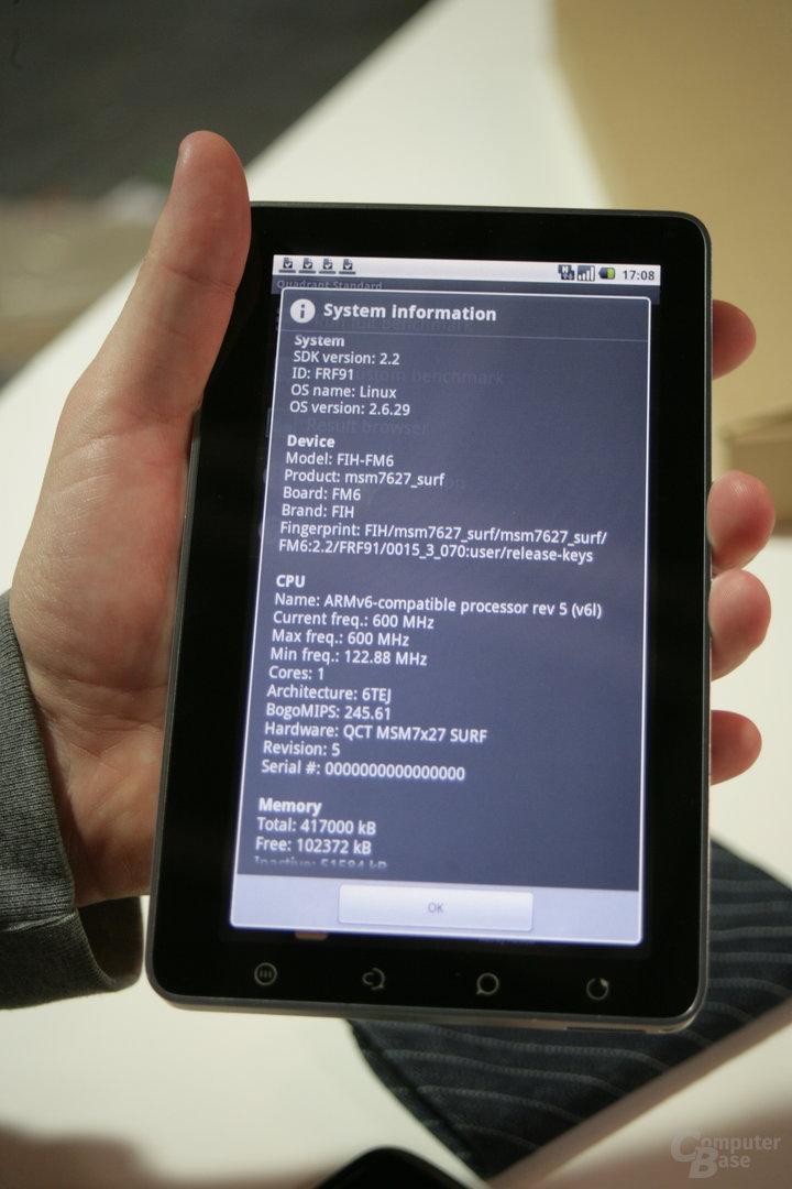 ViewPad 7: CPU-Details