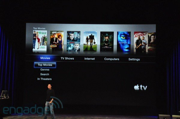 Apple TV: Menü