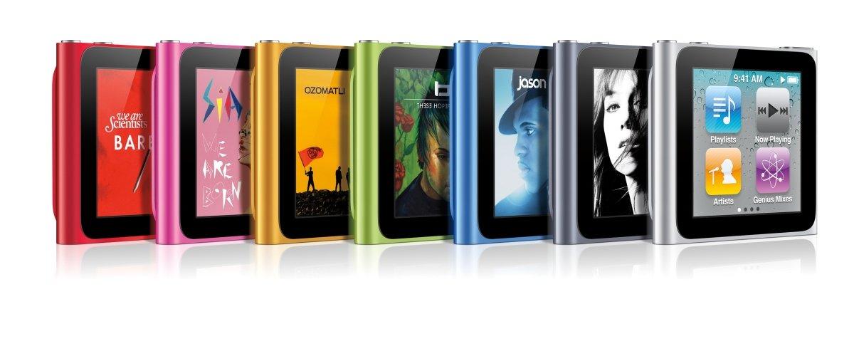 iPod nano: Farbvarianten