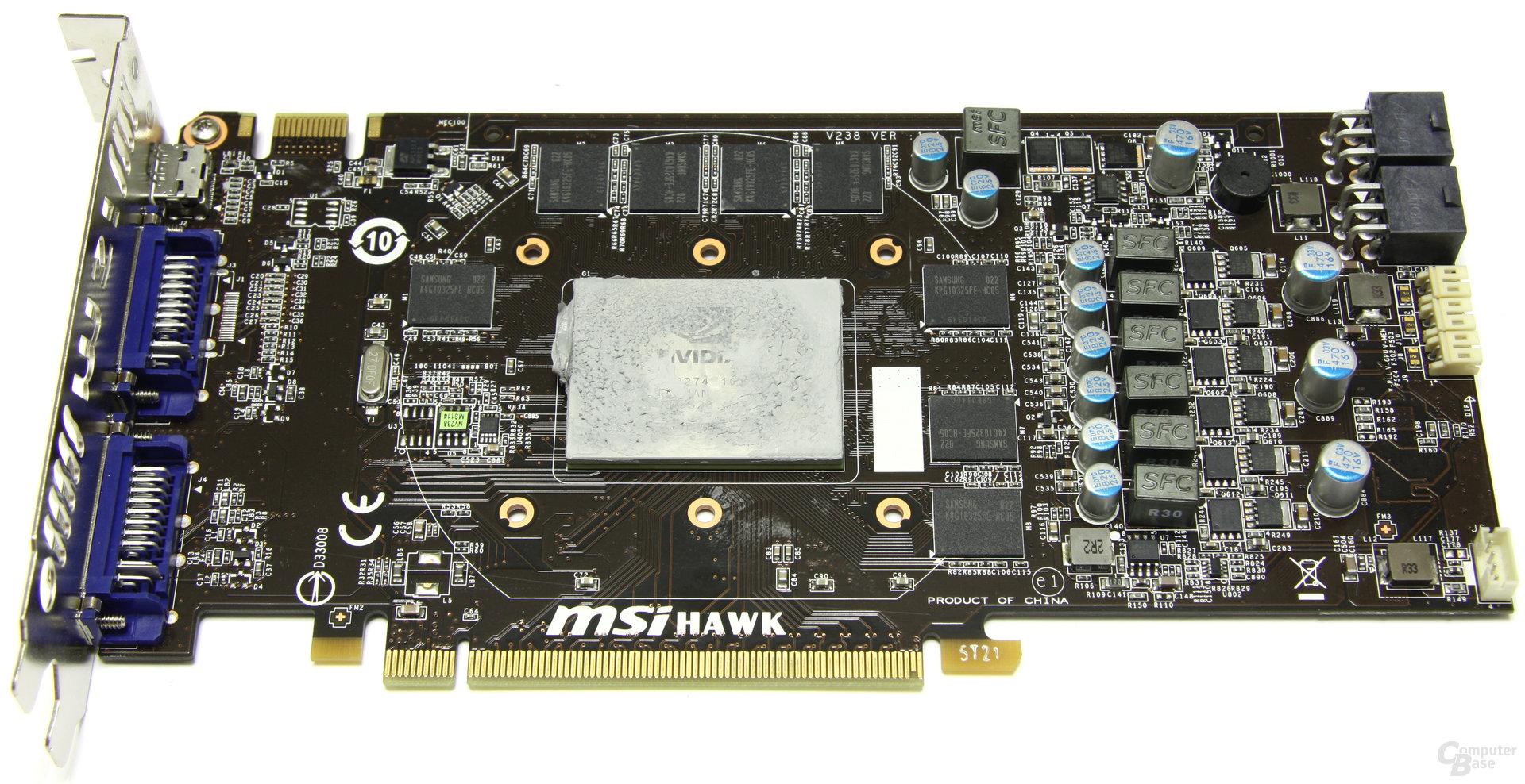 GeForce GTX 460 Hawk ohne Kühler