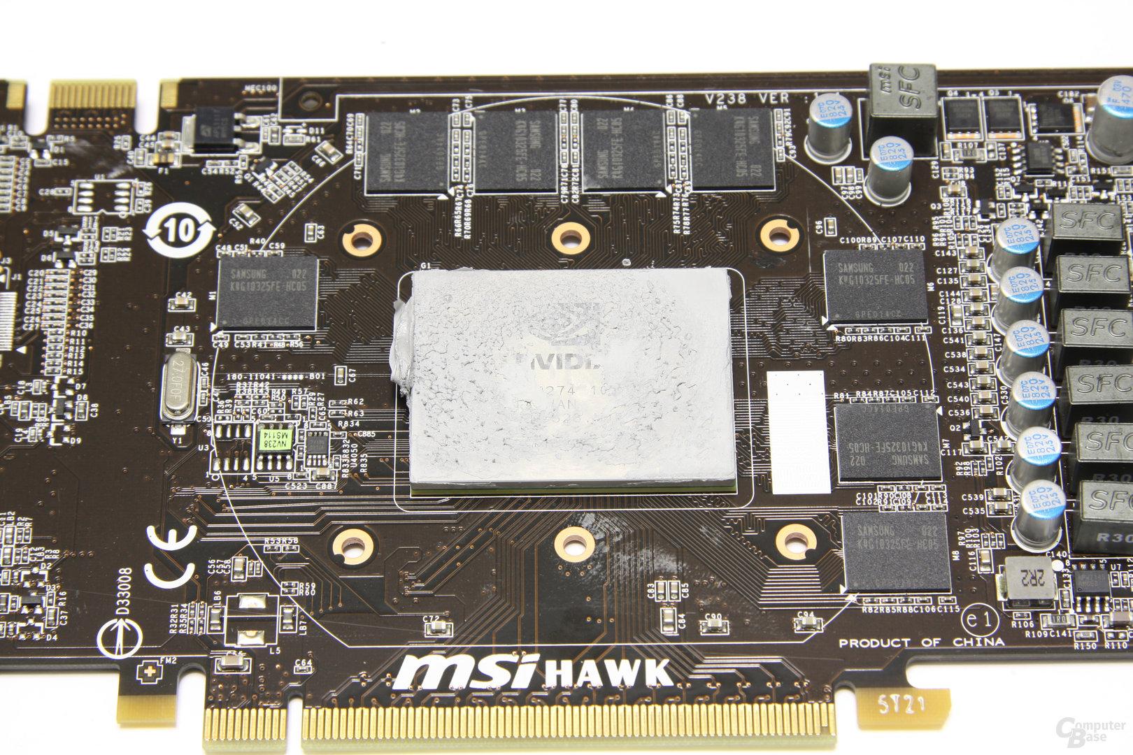 GeForce GTX 460 Hawk GPU und Speicher