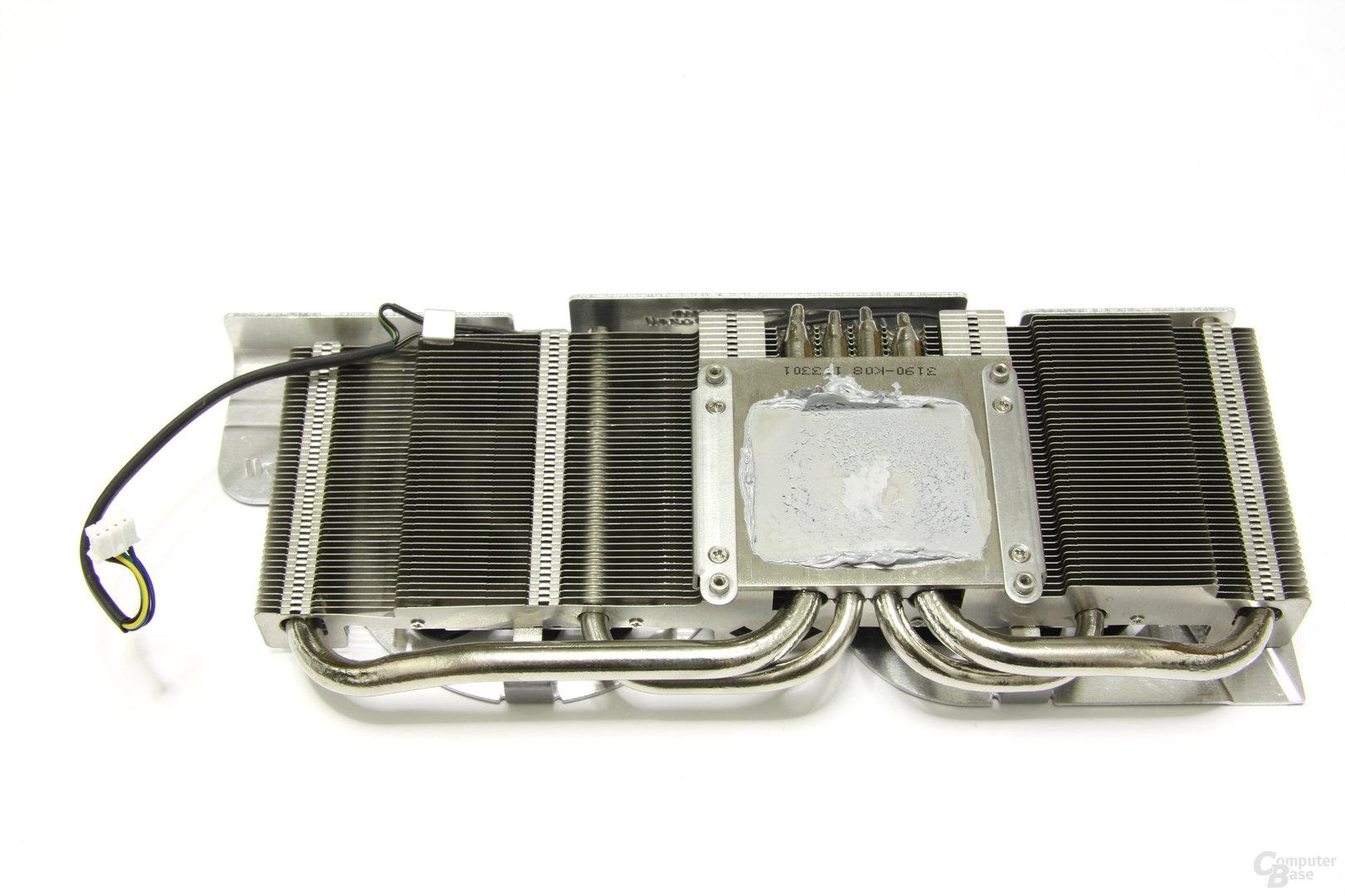 GeForce GTX 460 Hawk Kühlerrückseite