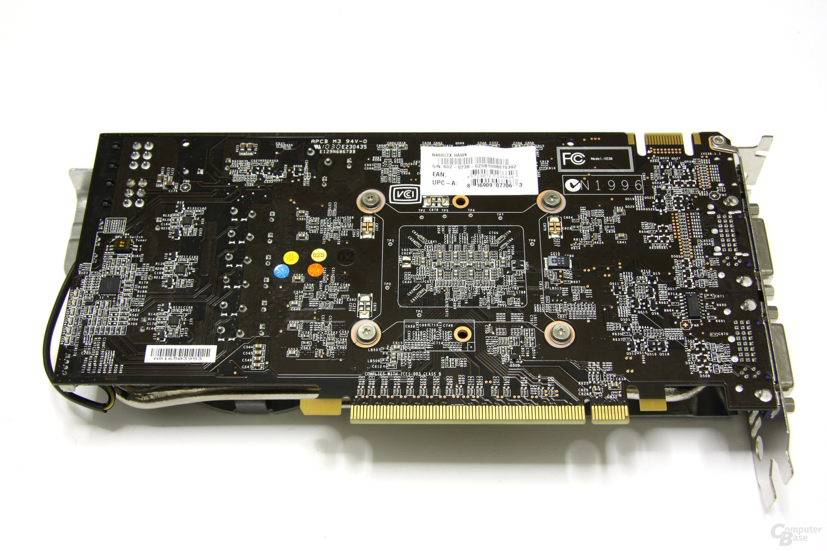 GeForce GTX 460 Hawk Rückseite