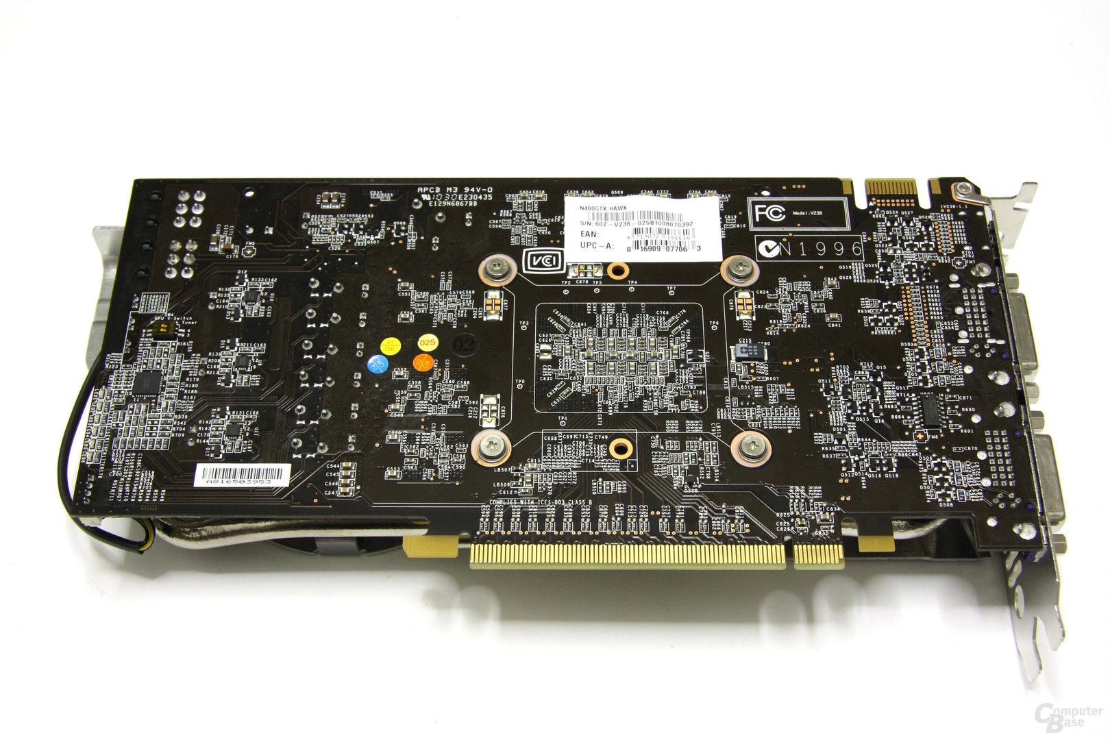 GeForce GTX 460 Hawk Rückseite