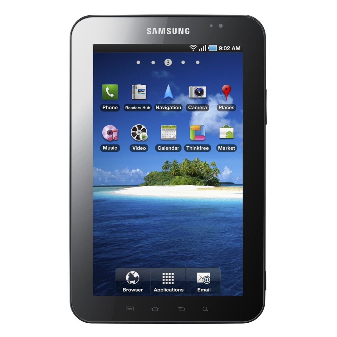 Galaxy Tab von vorn (Bild: Samsung)