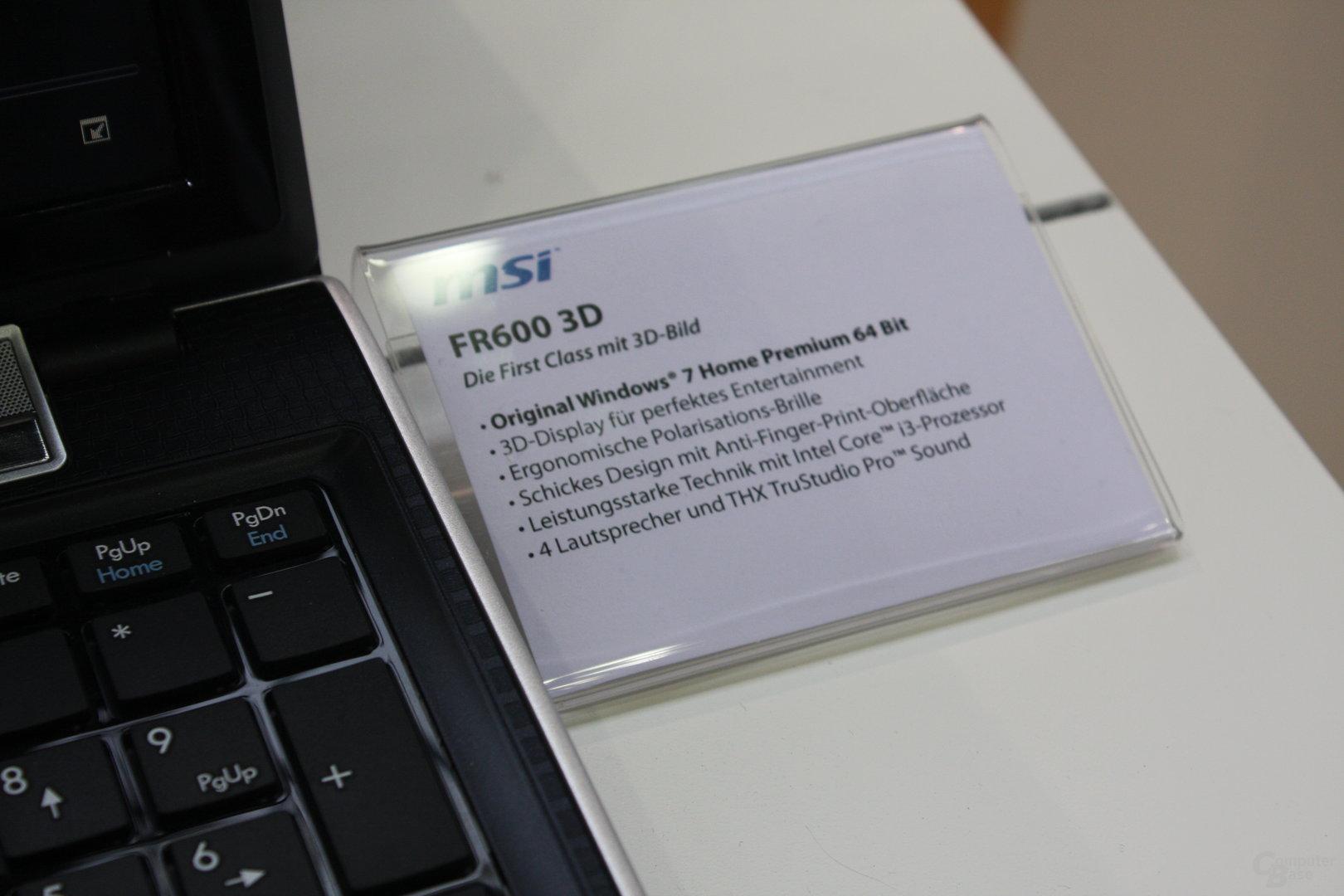MSI FR600 3D