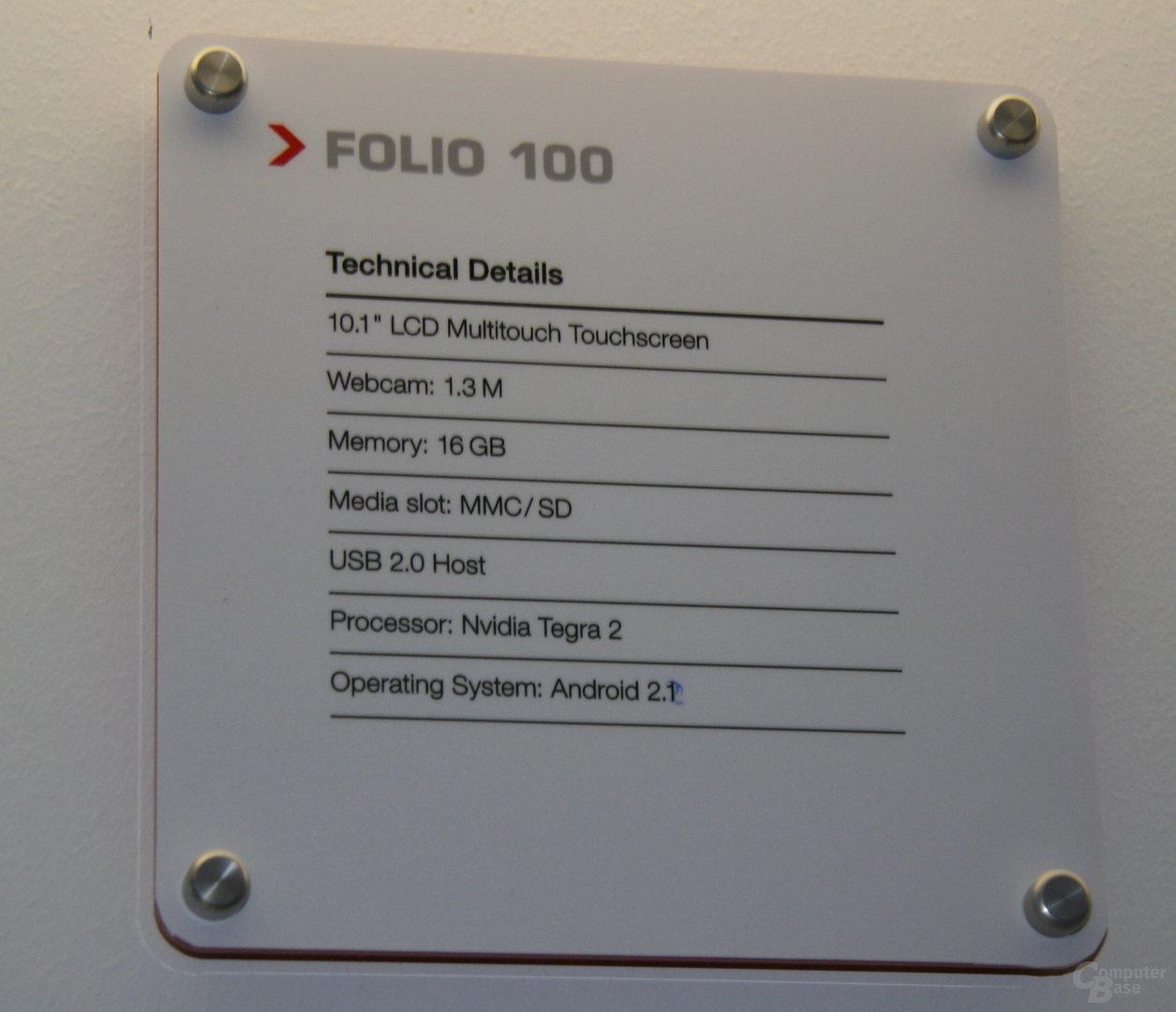 "Toshiba-Tablet ""Folio 100"""