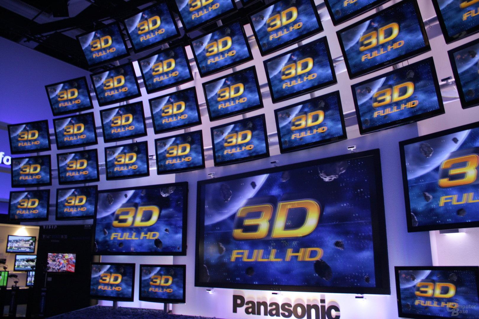 """Panasonics 153""""-3D-TV"""