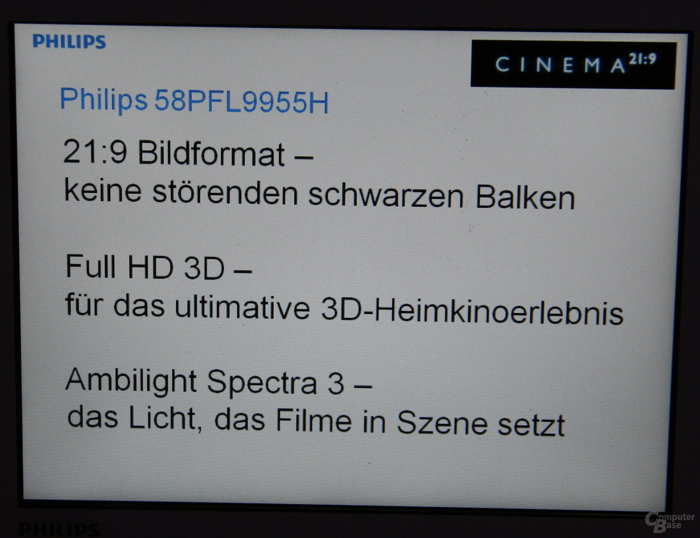 Philips' 21:9-TV mit 3D-Unterstützung