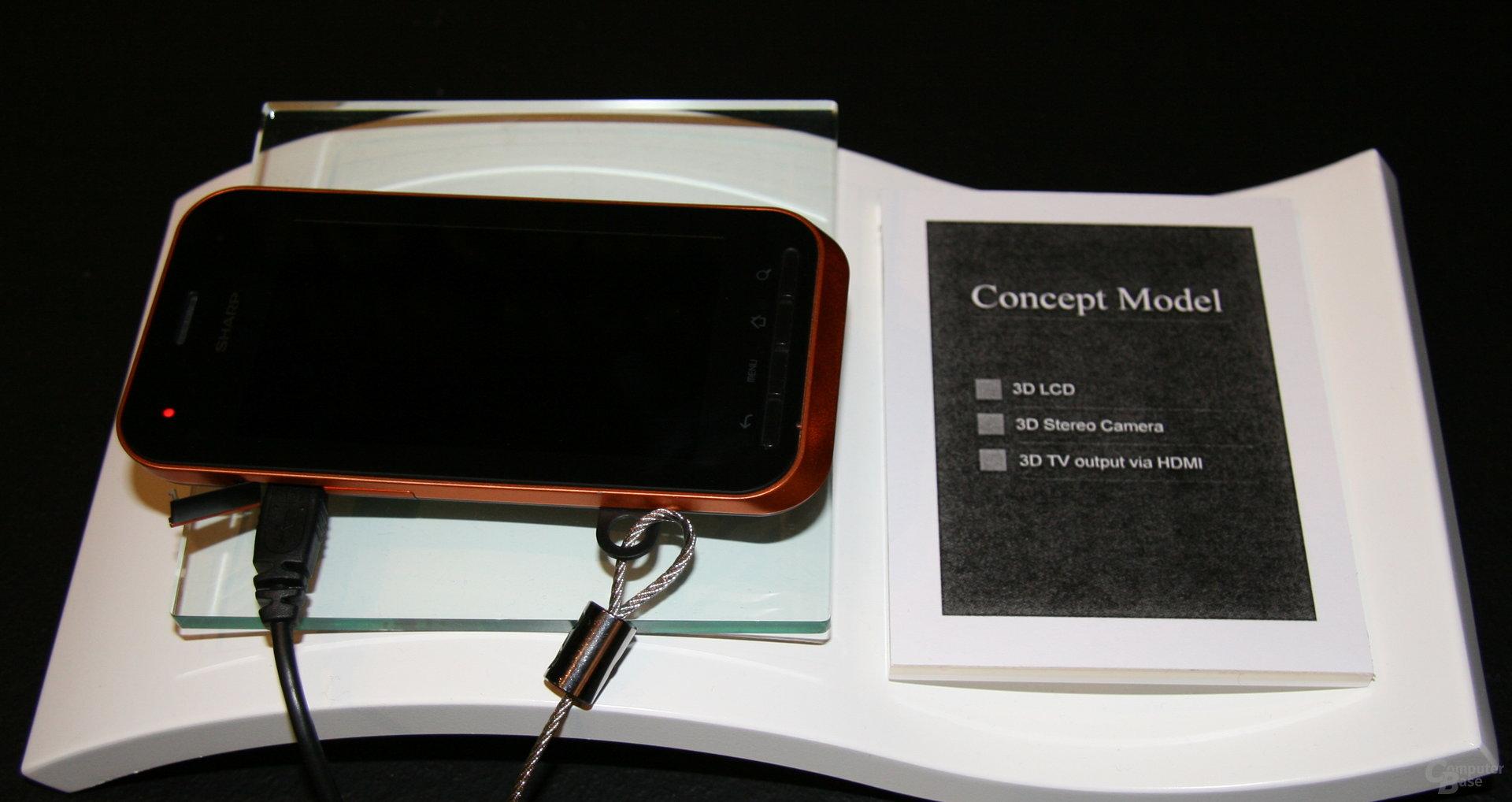 Impressionen von der IFA - Handy mit 3D-Kamera von Sharp