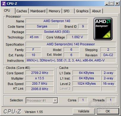AMD Semrpon 140 undervoltet