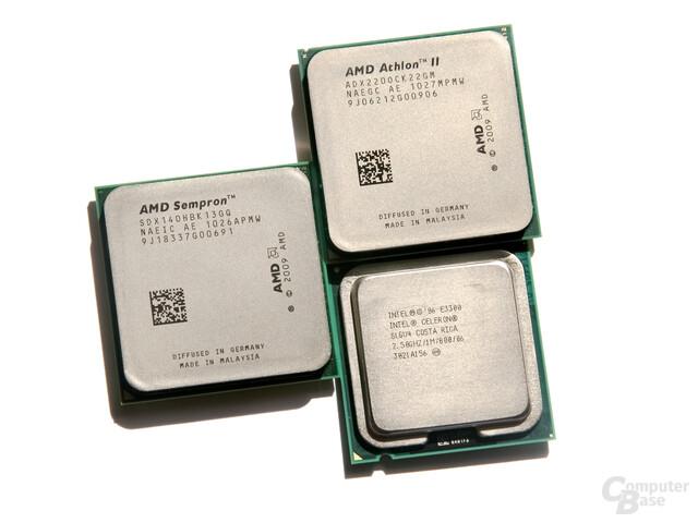 Drei CPUs für 30 bis 40 Euro