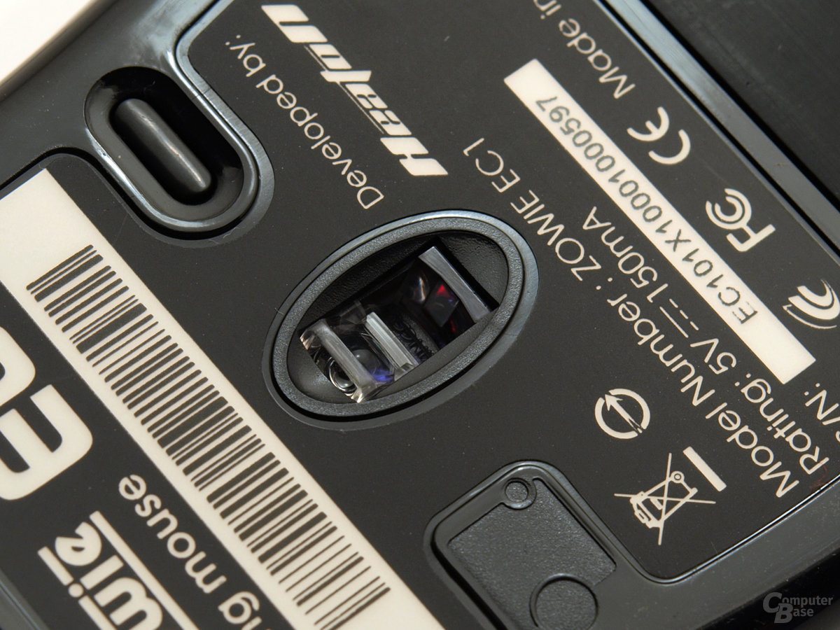 Optischer Sensor und dpi-Umschalter