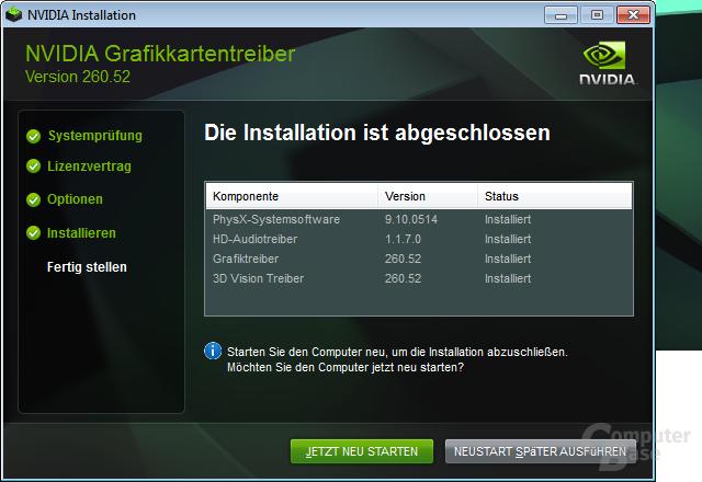 Nvidia GeForce 260.52