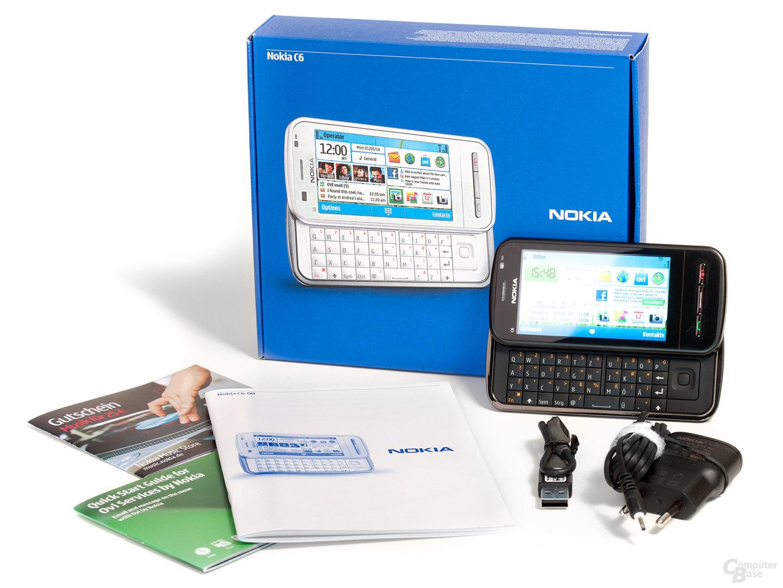 Lieferumfang des Nokia C6-00