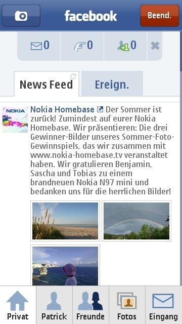 Nokia C6-00: Facebook
