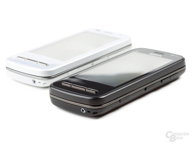 Nokia C6-00 in Schwarz und Weiß
