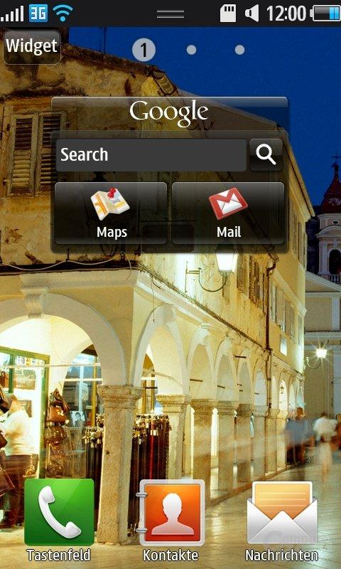 Bada OS: Startbildschirm