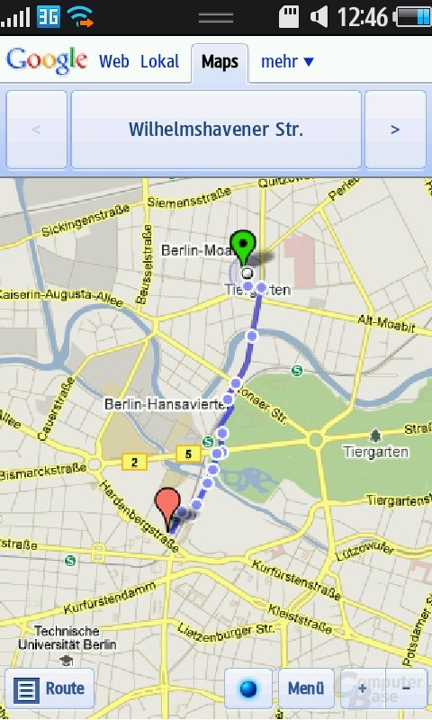 Bada OS: Google Maps