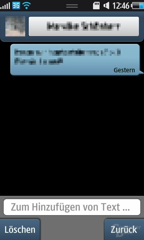 Bada OS: SMS-Ansicht