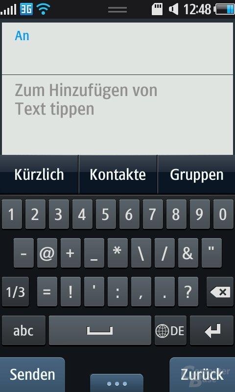 Bada OS: SMS verfassen