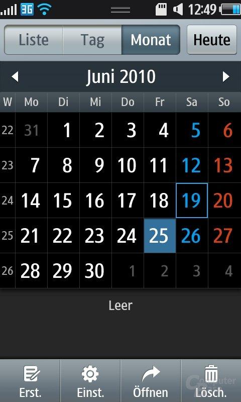 Bada OS: Kalender