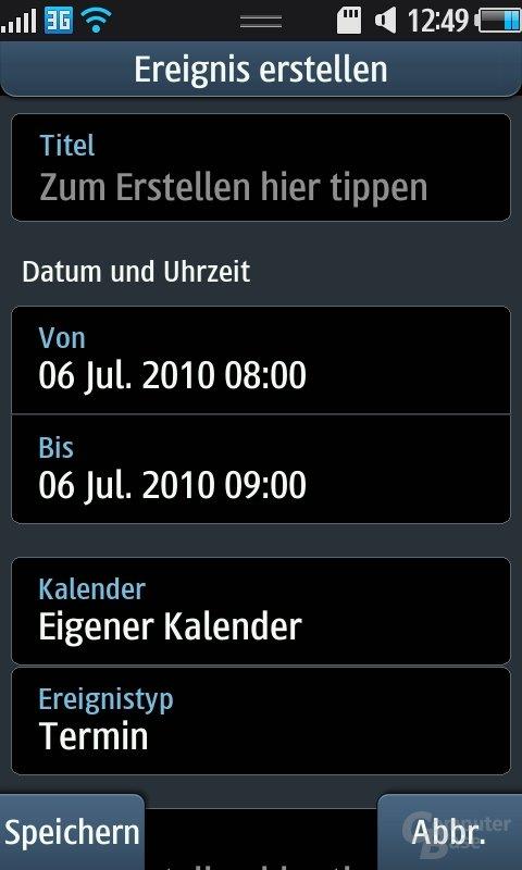 Bada OS: Kalender (Termin hinzufügen)