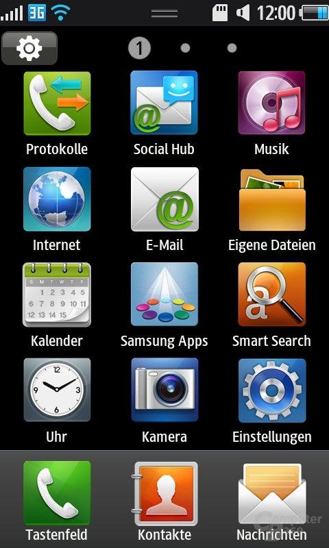 Bada OS: App-Liste