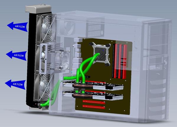 Swiftech H20-X20 EDGE – Einbauvariante