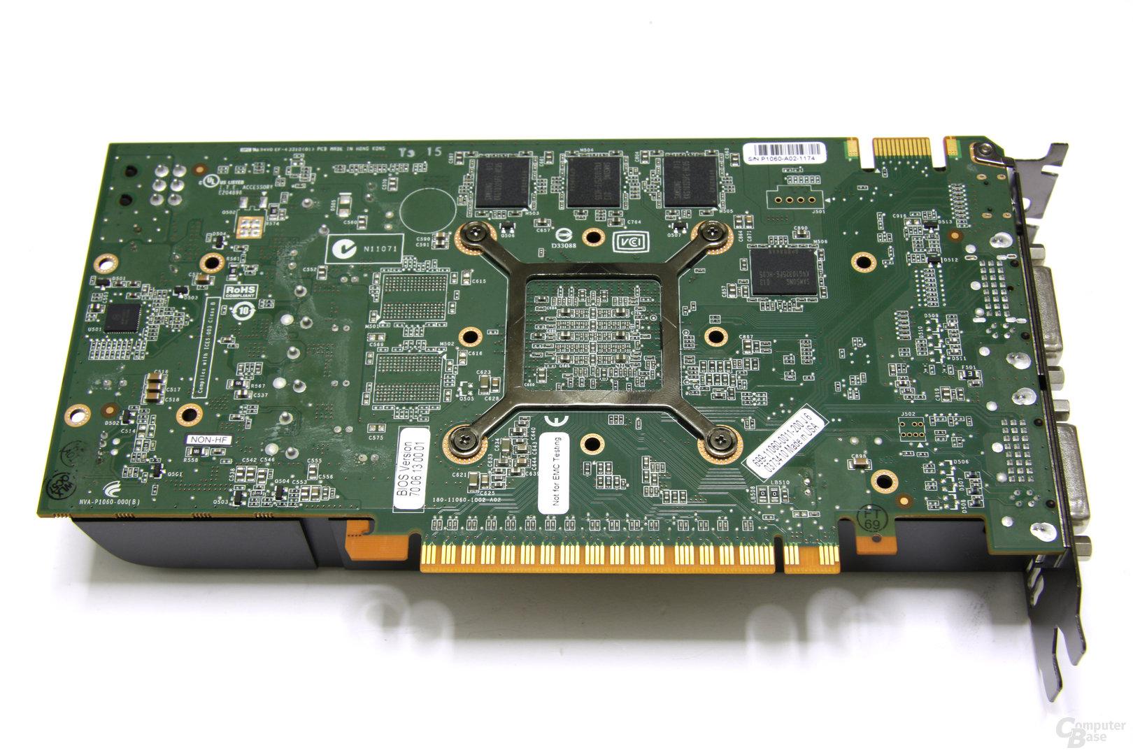 GeForce GTS 450 Rückseite