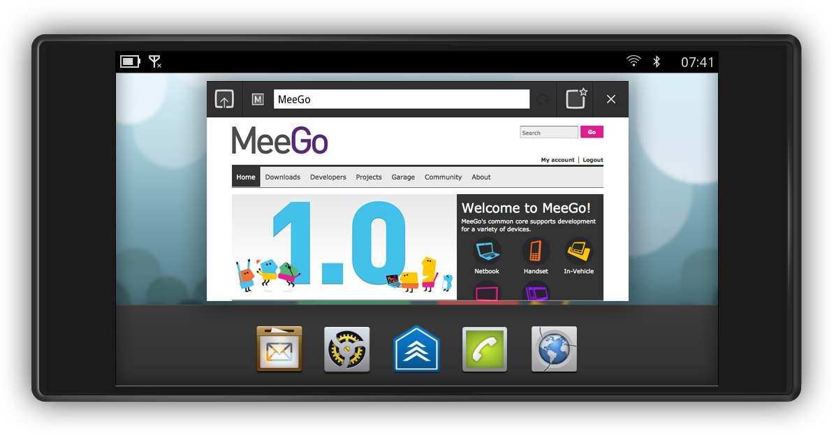 MeeGo Handset Project Day 1: Task.Manager (Landscape-Modus)