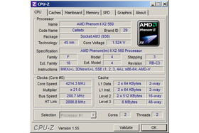 AMD Phenom II 560 Black Edition bei 4,2 GHz